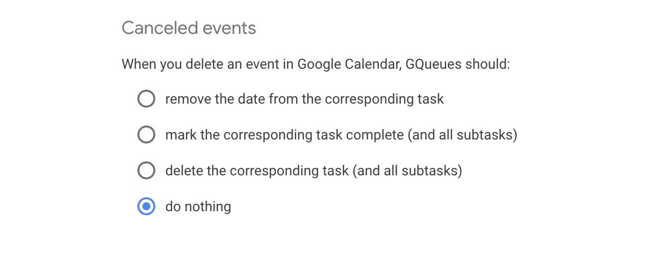 Choose what happens when you delete an event in Google Calendar.