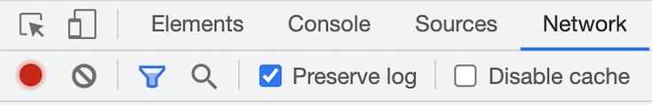 Network tab in developer tools