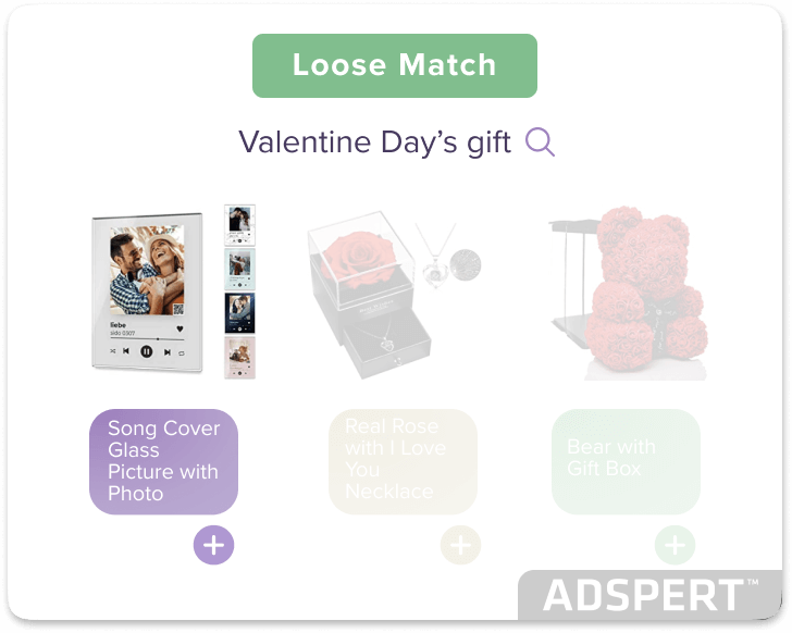 explanatory image for Amazon Ads Loose Match