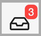 Dentally Inbox showing 3  unread items