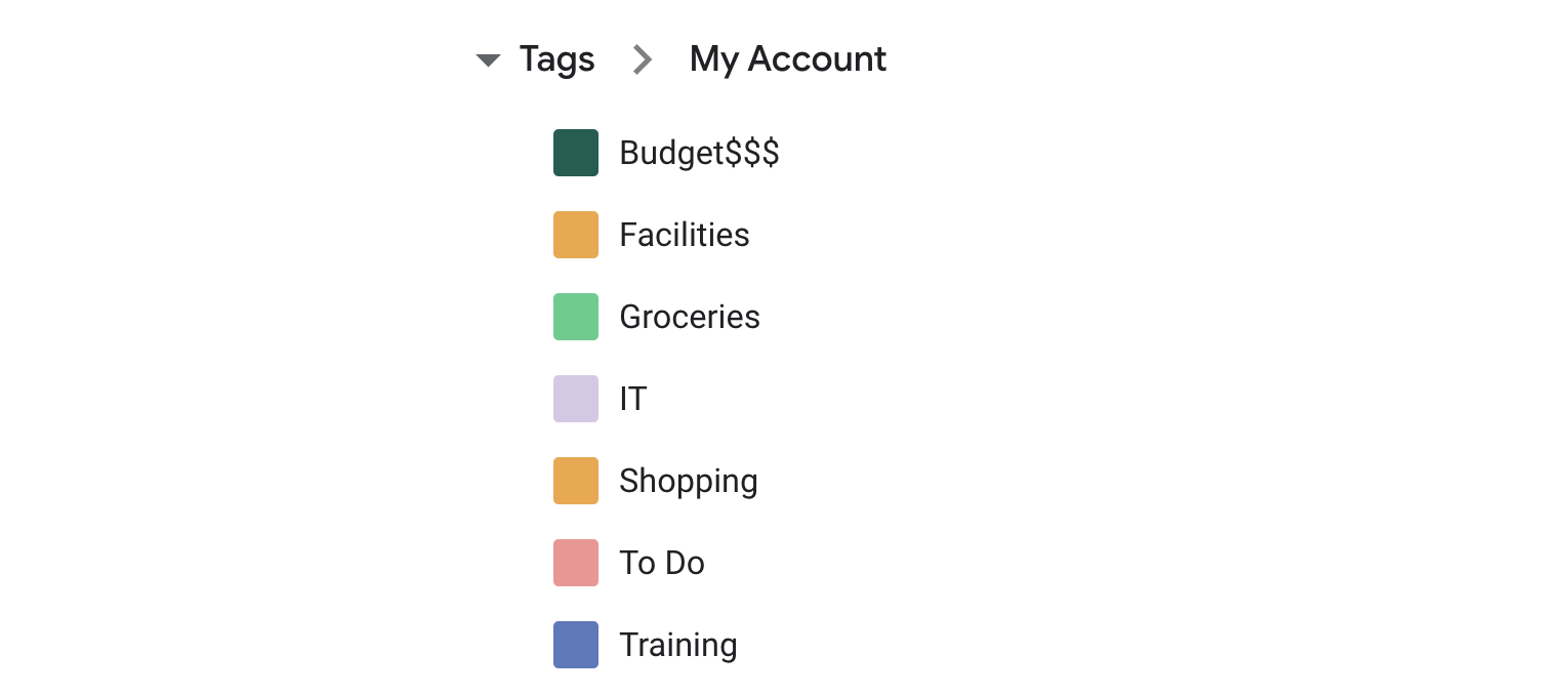 Create and manage your tags.