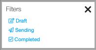 Dentally messaging centre filter options