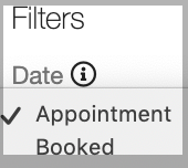 Dentally - Appointments Report filters