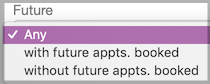 Dentally - Appointments Report - Future appointments filter