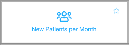 Dentally New Patients Per Month Report icon