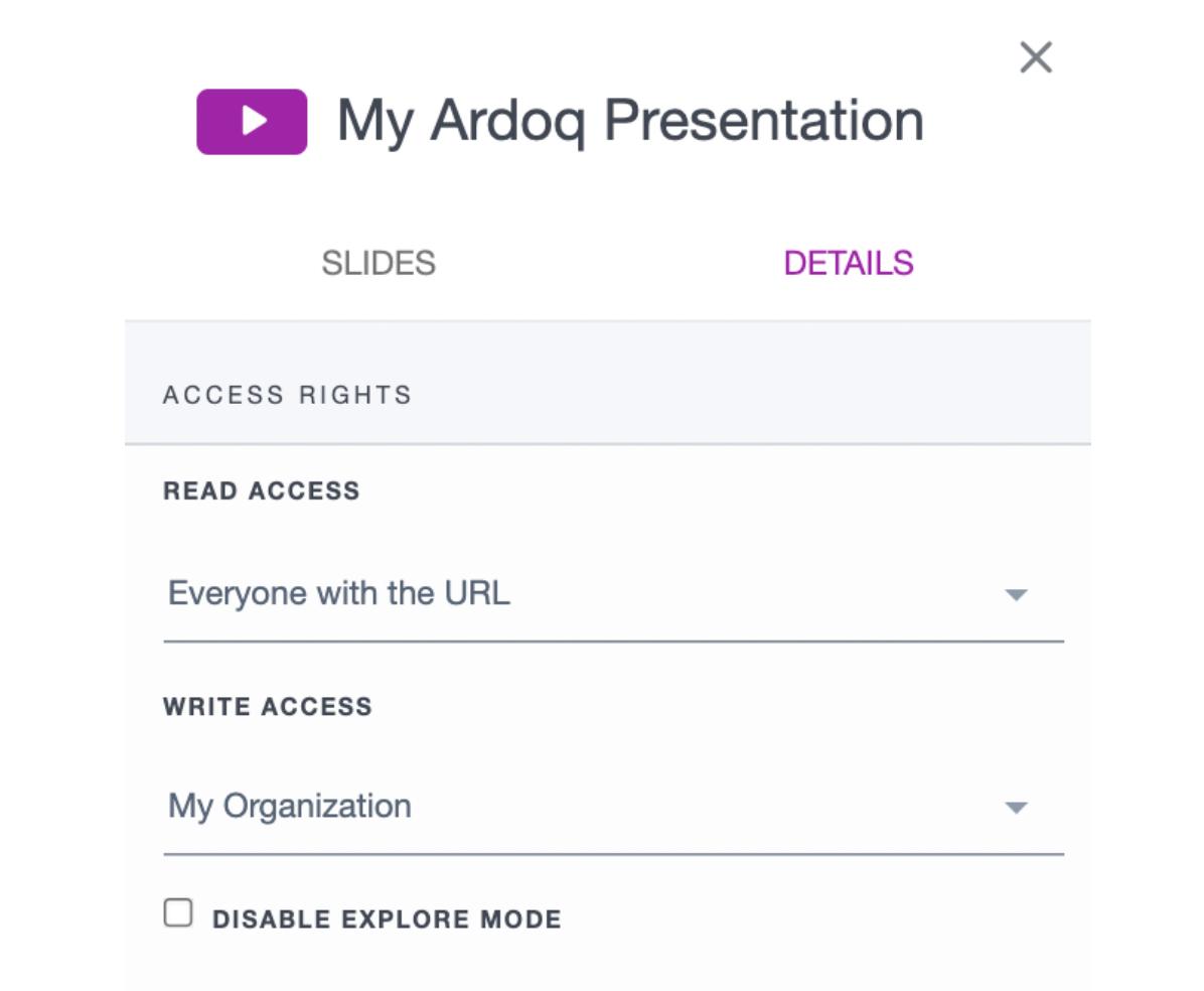ardoq example presentation