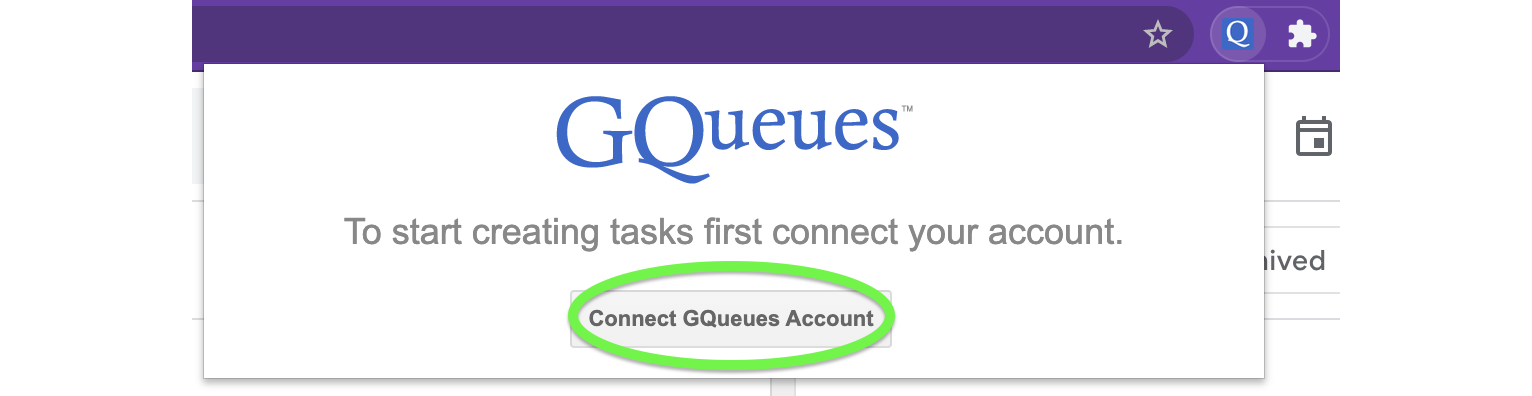 Connect the Extension to your account.