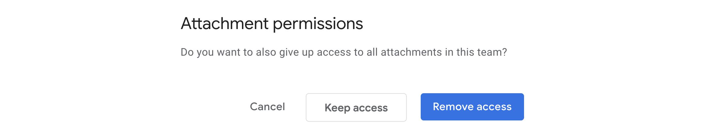 Confirm attachment permissions