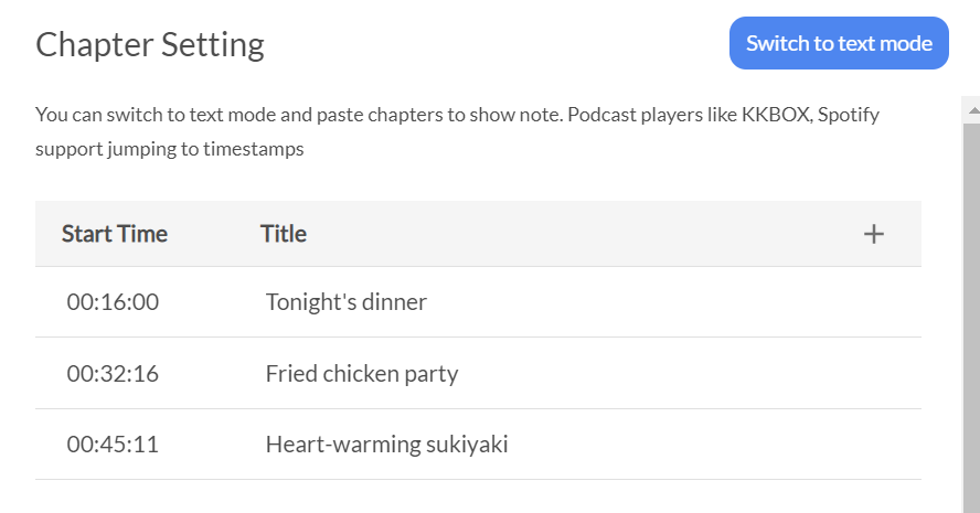 How to place podcast chapters and timestamps