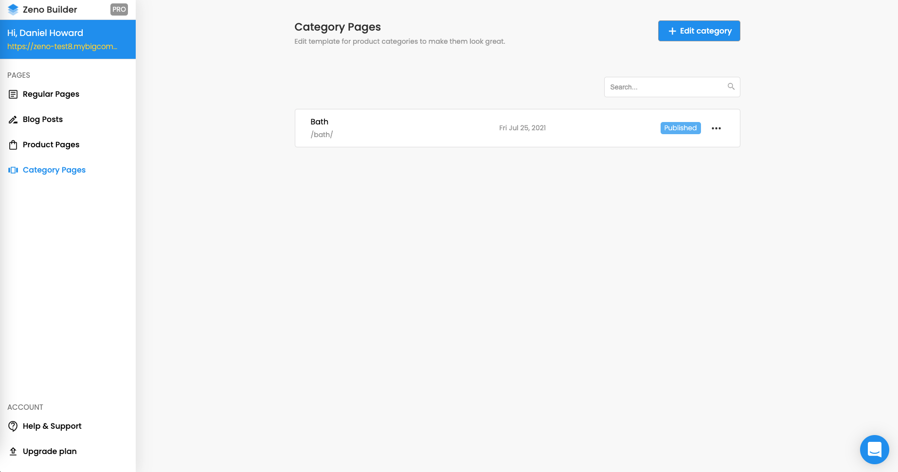 Collection pages