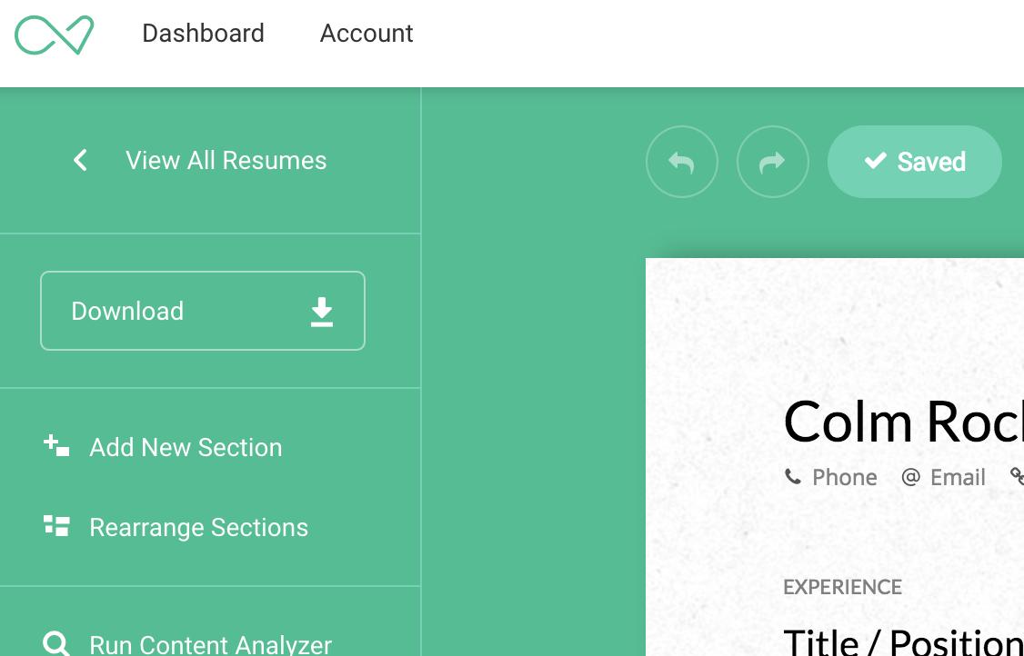 Downloading Your Resume In Other Formats Enhancv Help Center