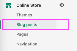Shopify blog posts