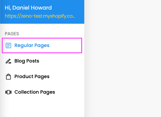 Regular pages