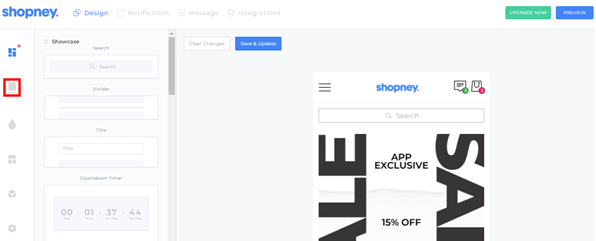 sub-collections - mobile app Shopney
