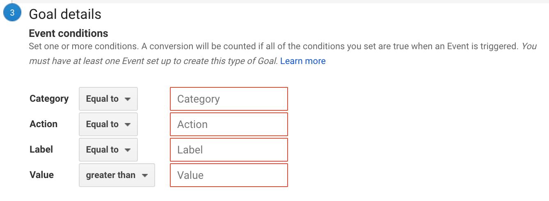 goal details