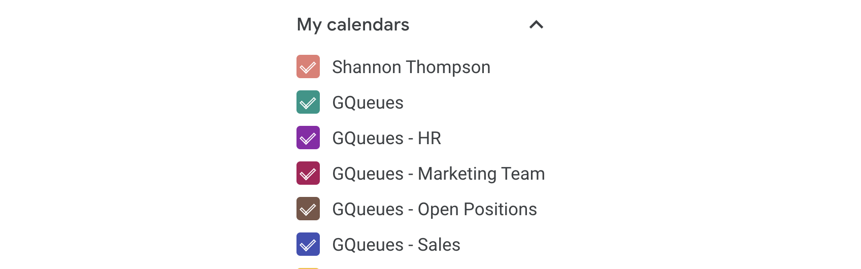 View team calendars alongside your others in Google Calendar.