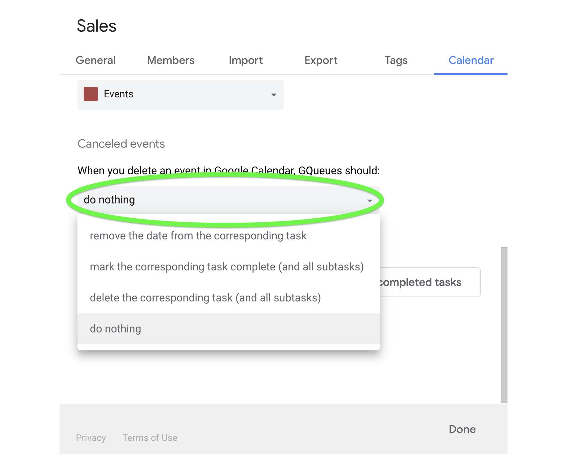Choose what happens when you cancel events from Google Calendar.