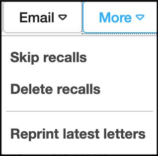 skip delete recalls
