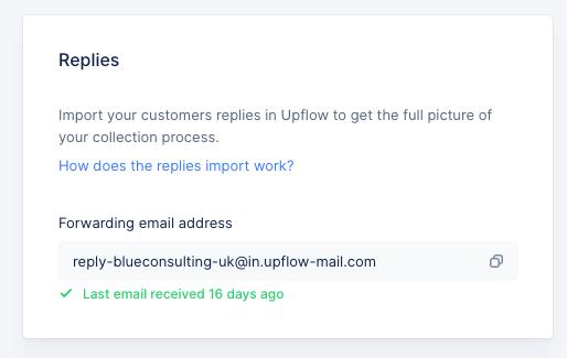 import my replies in Upflow