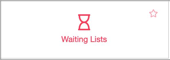 waiting list button