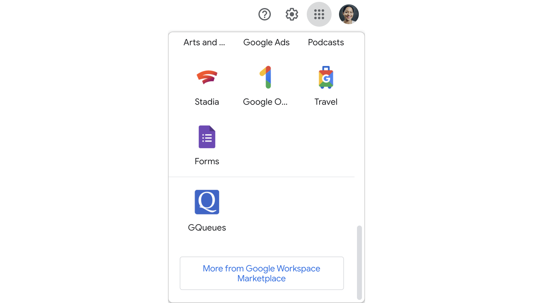 See GQueues listed alongside your other Apps