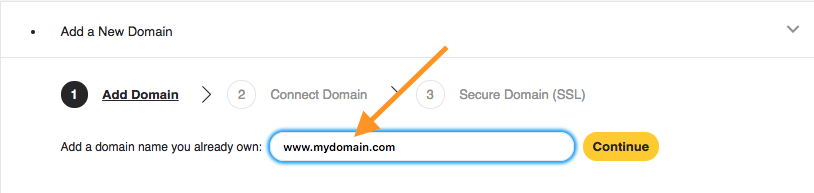 how to write domain