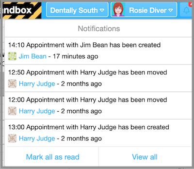 notifications dentally