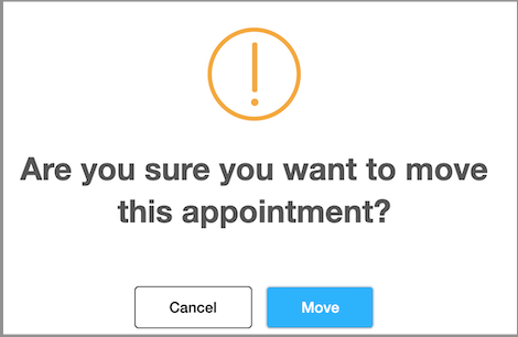 confirm move of appointment