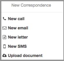 New correspondence