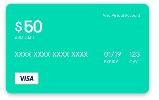 claiming your card once you claim your virtual visa - Virtual Visa Card
