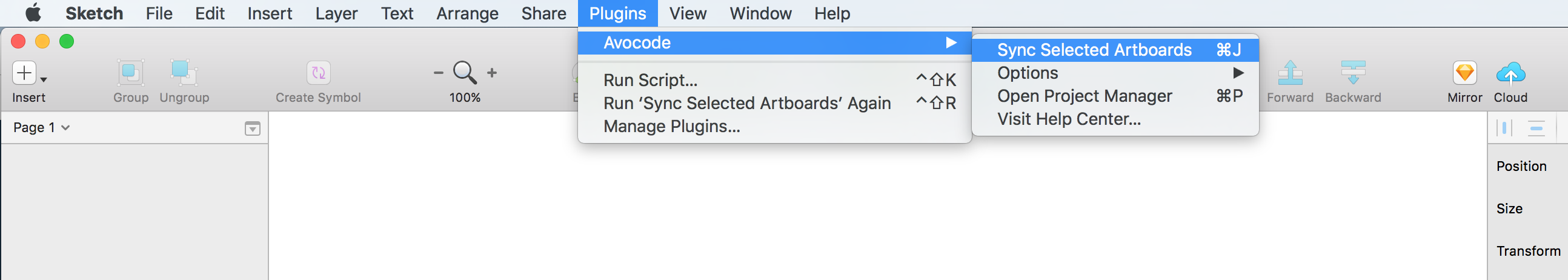 Upload sketch designs via avocode sketch plugin avocode help center go to the window menu bar to plugins select avocode and click sync selected artboards biocorpaavc