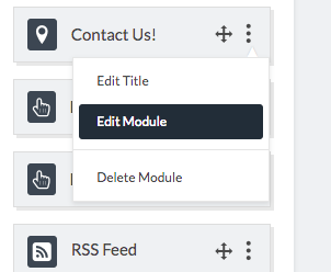 edit module dropdown menu