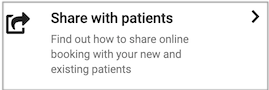 Dentally Patient Portal Share with patients icon