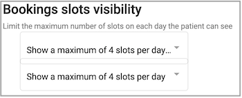 Dentally Patient Portal Appointment Booking visibility setting