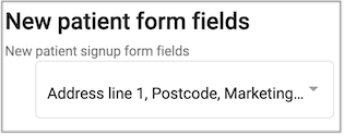new patient form fields