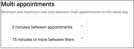 Dentally Patient Portal Communication multi appointment settings