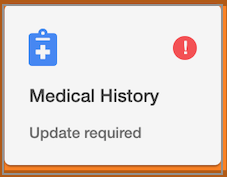 Dentally Online Appointment Booking Medical History icon