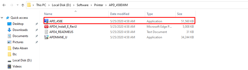 Open the Extracted File Then Double Click to Start the Installation