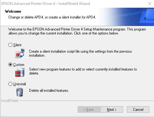 Select Custom Installation