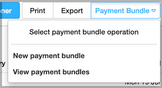 Dentally Takings Report  - Create Payment Bundle