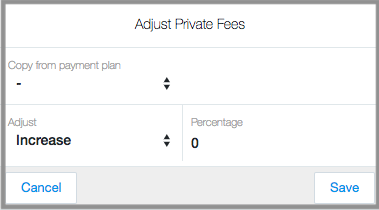 changing fees