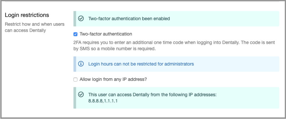 login restrictions