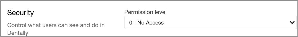 permission level