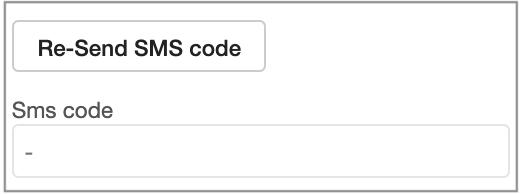 resend sms codes