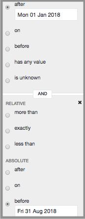custom reports data range