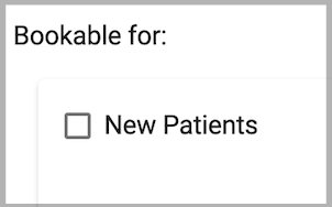 Dentally Patient Portal and Online Appointment Booking - Bookable for option in Management Settings