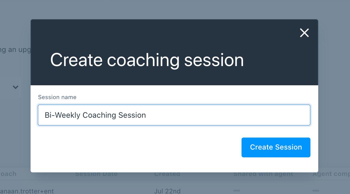Create a Coaching Session