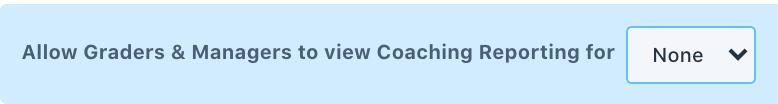 coaching reporting access