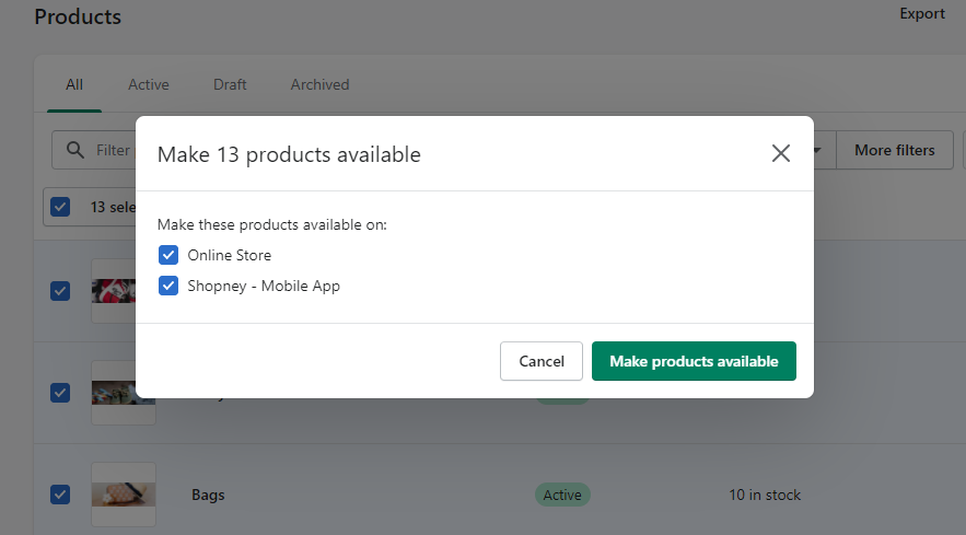 Shopney mobile app