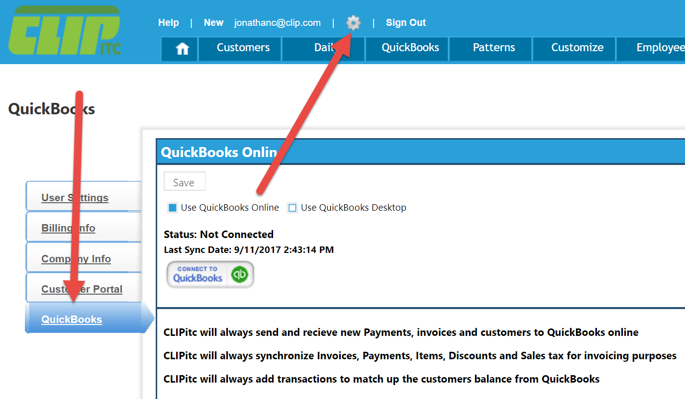 Syncing CLIPitc With QuickBooks Desktop CLIP Software Help Center - Quickbooks invoicing on the go
